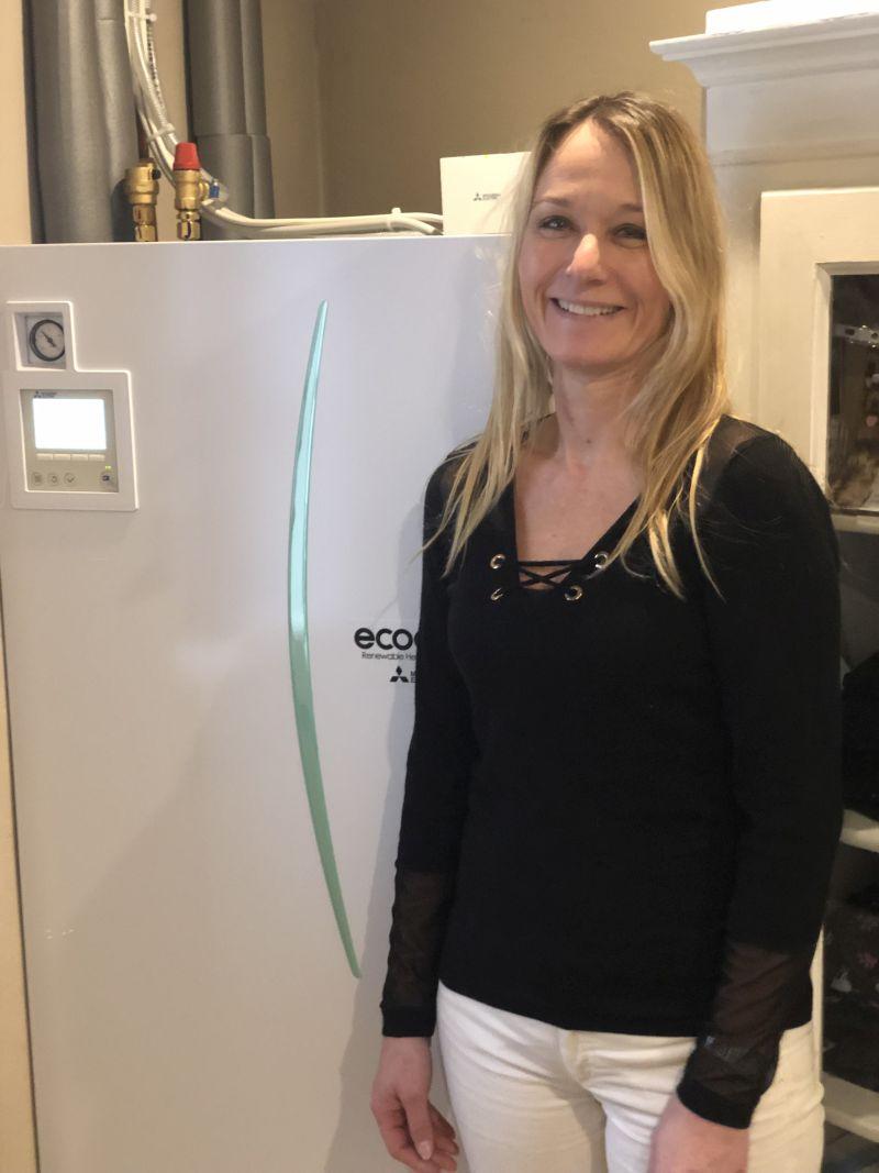 Luft-vand varmepumpe fra gasfyr