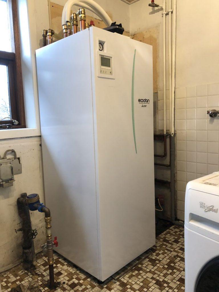 Skift til miljøvenlig luft til vand-varmepumpe - indedel