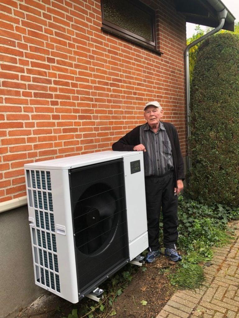 Ny luft til vand varmepumpe