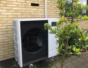 Udelelen til luft til vand varmepumpe