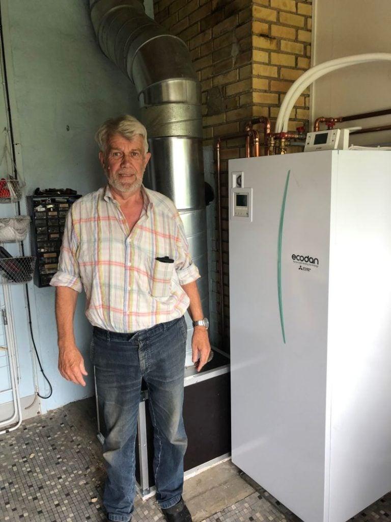 Luft til vand Varmepumpe installeret