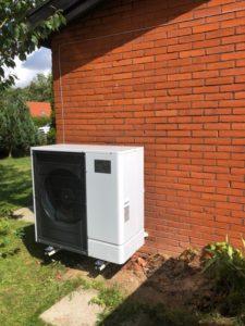 Udedelen til luft til vand varmepumpe