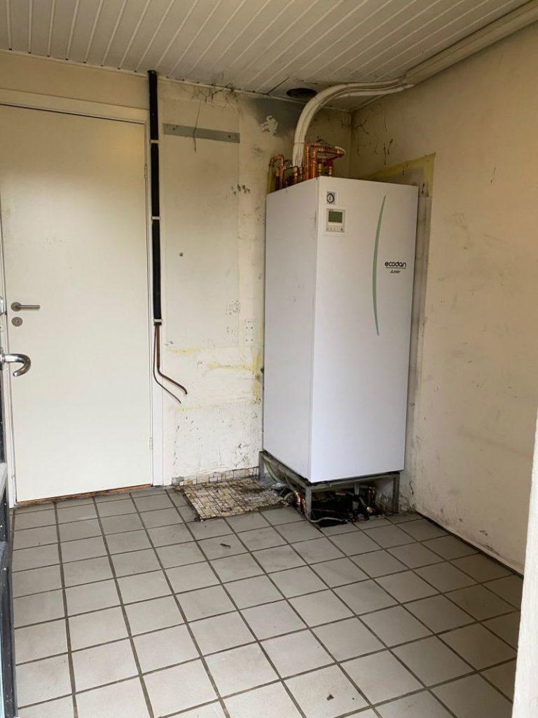Lars Rasmussen fik ny luft til vand varmepumpe - indedelen