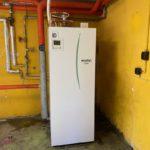 Jens fik en ny Ecodan luft til vand varmepumpe fra Mitsubishi - indedelen