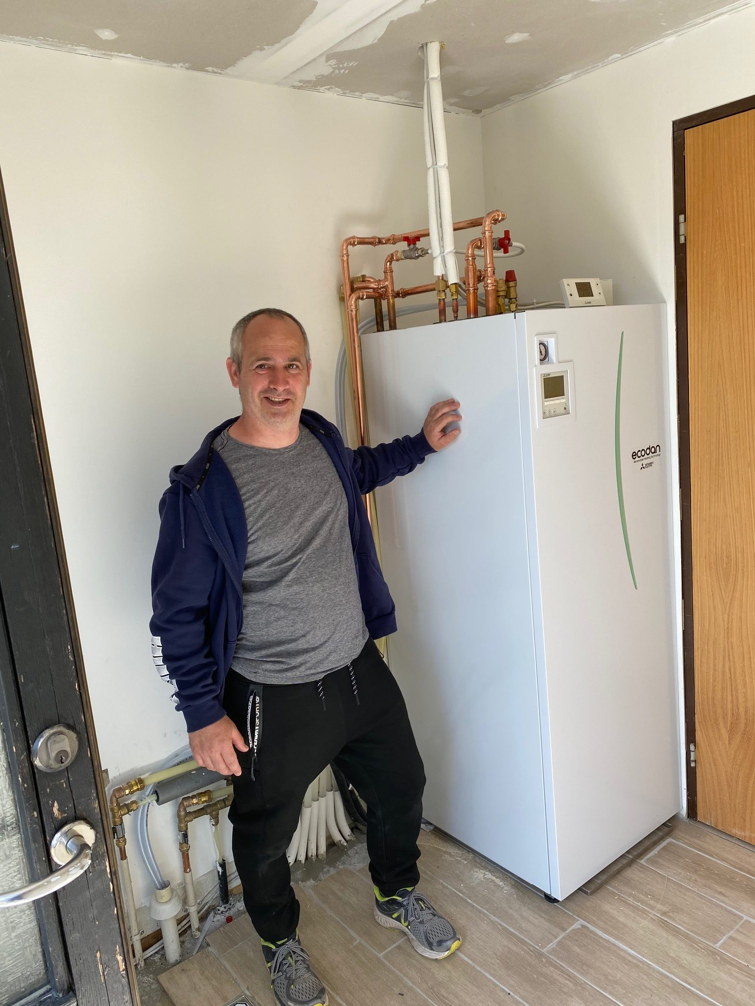 Jan fik ny luft til vand-varmepumpe