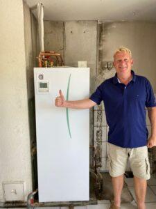 Jens er glad for sin nye varmempumpe