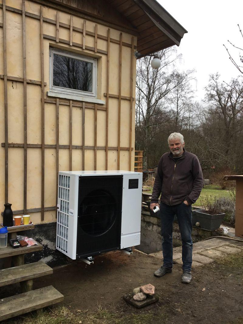 Peter fra Humlebæk har fået ny luft til vand varmepumpe